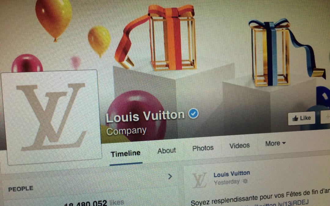 Tour d'horizon des marques de luxe sur Facebook