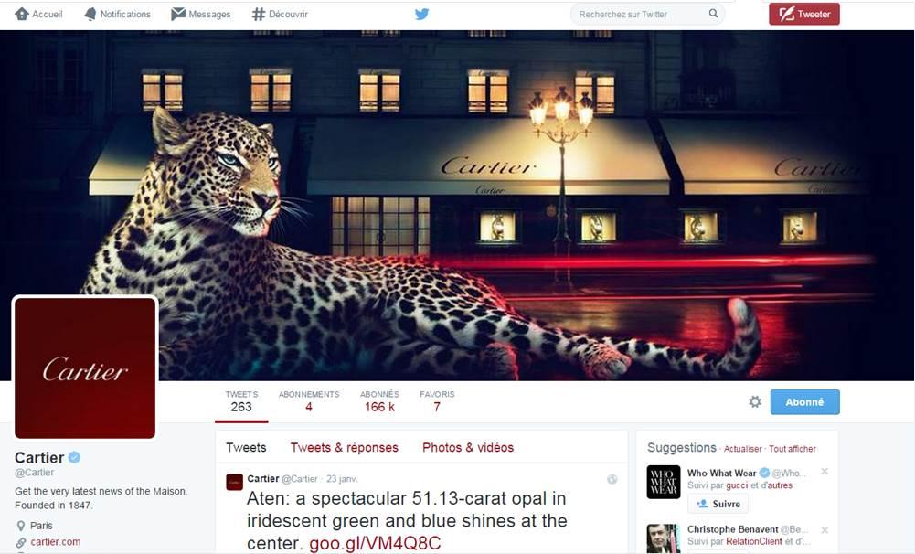 Les marques de luxe sur Twitter – Tour d'horizon
