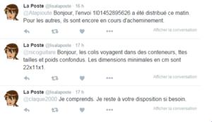 Tweet La poste